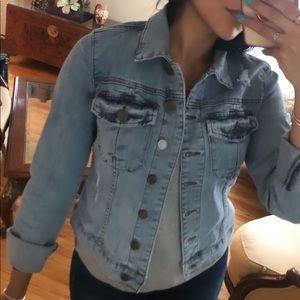 Jackets & Blazers - Distressed Denim Jacket